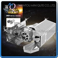 Mini Qute 3d Metal Puzzle Star War Tie Fighter Warcraft Military ...