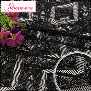 Lingerie Sincare Manufacture Jacquard Cheap Nice Plaid Fabric Lace