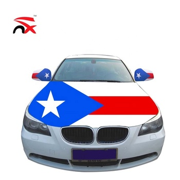 NX Puerto Rico Country Flag Car Hood Cover For Promotion