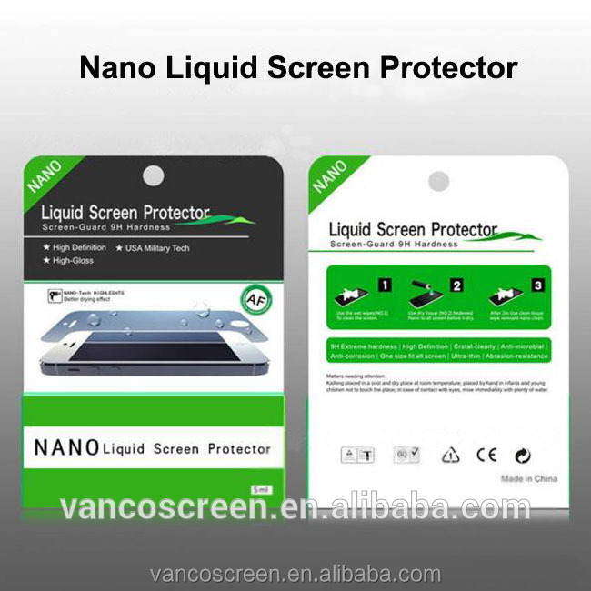 New product high Technology full Invisible Nano liquid Screen Protector for all brand models