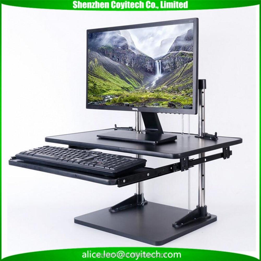 Office Desk Organizer Monitor Stand Up Desk Ergonomic Stand For