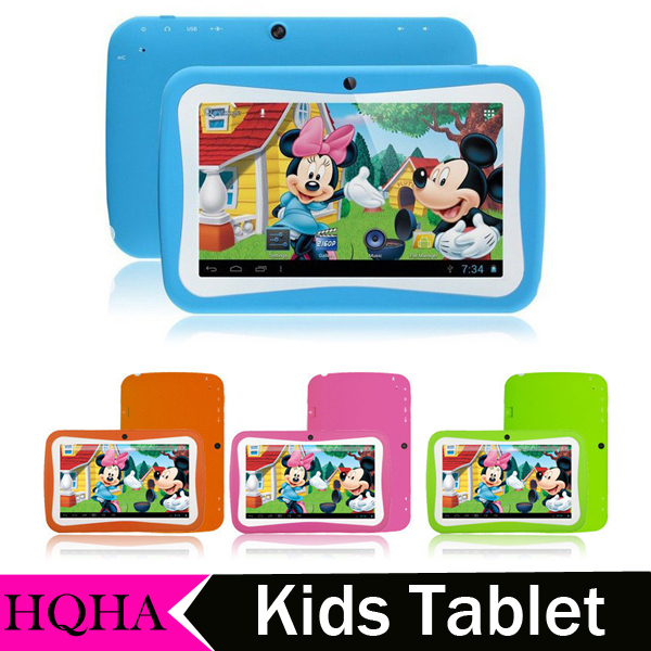 "Christmas gifts for Kids 7"" Kids Tablet PC RK3126 Quad Core 8G ROM Dual Camera WiFi PAD for Children"