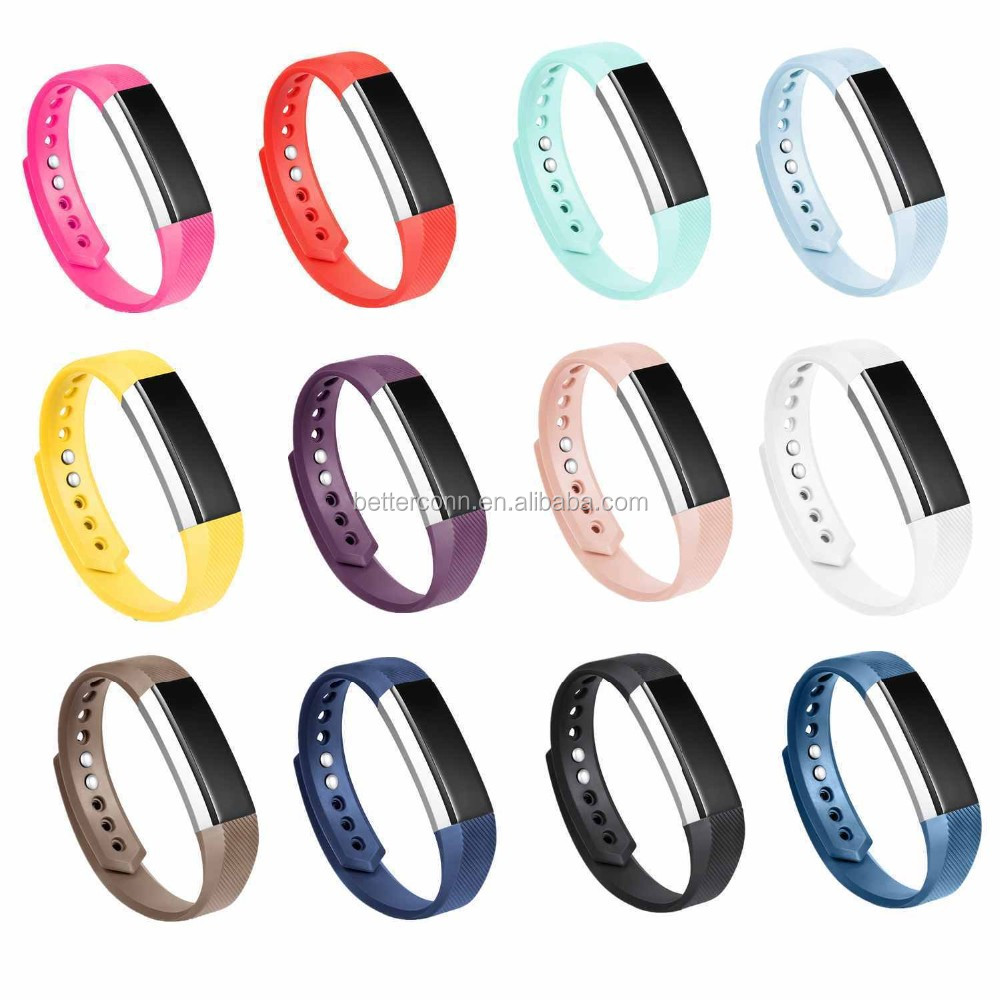 Multiple Colors Replacement Bands Silicone Strap with Clasps for Fitbit Alta S/L