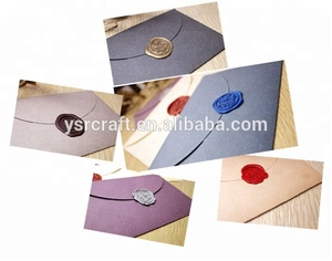 Diy wax seal gift envelope paper kraft 9 colors