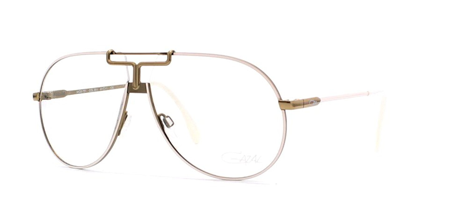 ae211f9419 Get Quotations · Cazal 731 351 White and Gold Authentic Men - Women Vintage  Eyeglasses Frame