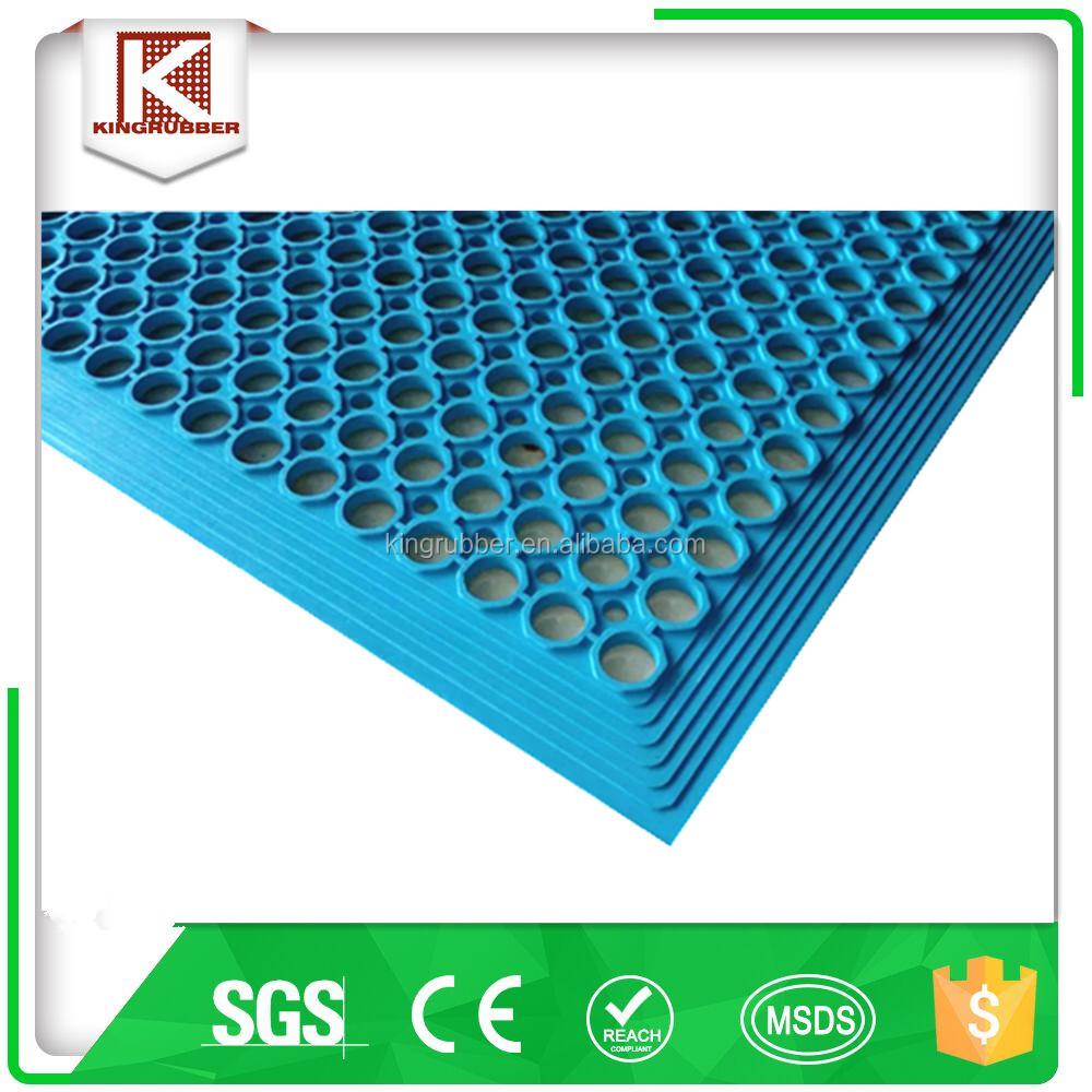 טוב מאוד מחיר מפעל, שטיח רצפת גומי עם חורים-ריצוף גומי-מספר זיהוי מוצר UU-52