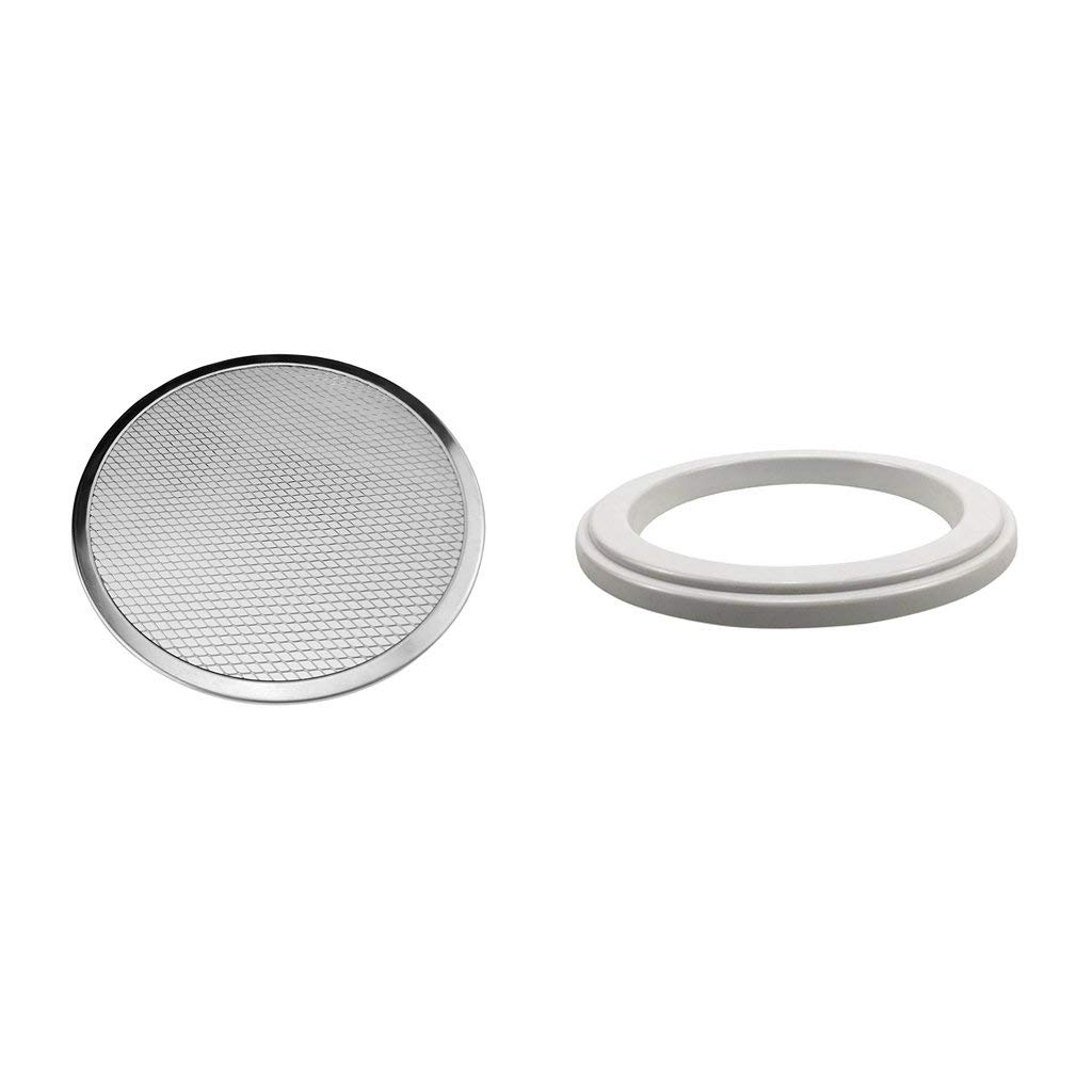 B Blesiya Aluminum Pizza Screen Mesh Oven Baking Tray Pizza Plate 6inch with Ring Kit, Pizza Prep Tools
