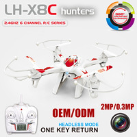 2016 Best Selling toy vehicle 2.4G 6 Axis Gyro 6ch remote control Quad Copter drones with HD Camera 3D action