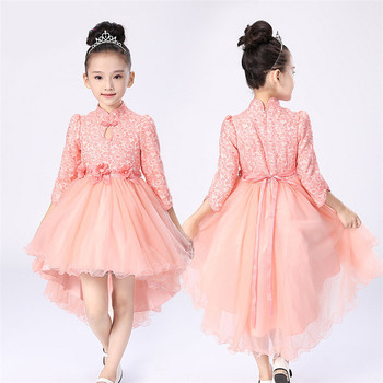 45ec13f939c34 BL129A 2017 lasted design Top quality princess long sleeve dresses kids  baby toddler girl party dress