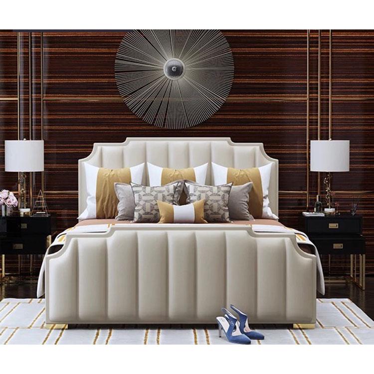 الحديث أفضل الأسعار الفولاذ المقاوم للصدأ النسيج سرير ملكي وسادة مضادة للماء أثاث غرفة نوم