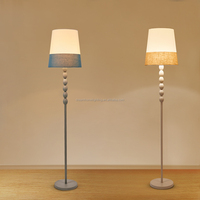 American Special two colors fabric shade floor lighting for bedroom