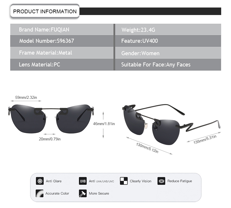 Fuqian wholesale fashion sunglasses for business for sport-7