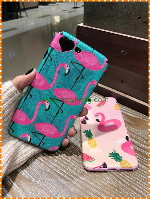Newest Style Flamingo Pattern Water transfer imd full pc phone case for iphone 7 plus
