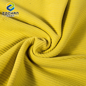 Modern design Solid Color yellow wholesale plain japanese 100 cotton knit fabric