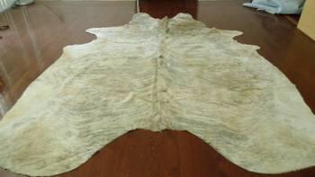 Large Brazilian Light Exotic Cowhide Rug Carpet Runner Cow