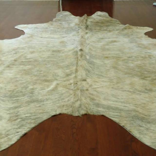 Large Brazilian Light Exotic Cowhide Rug Carpet Runner