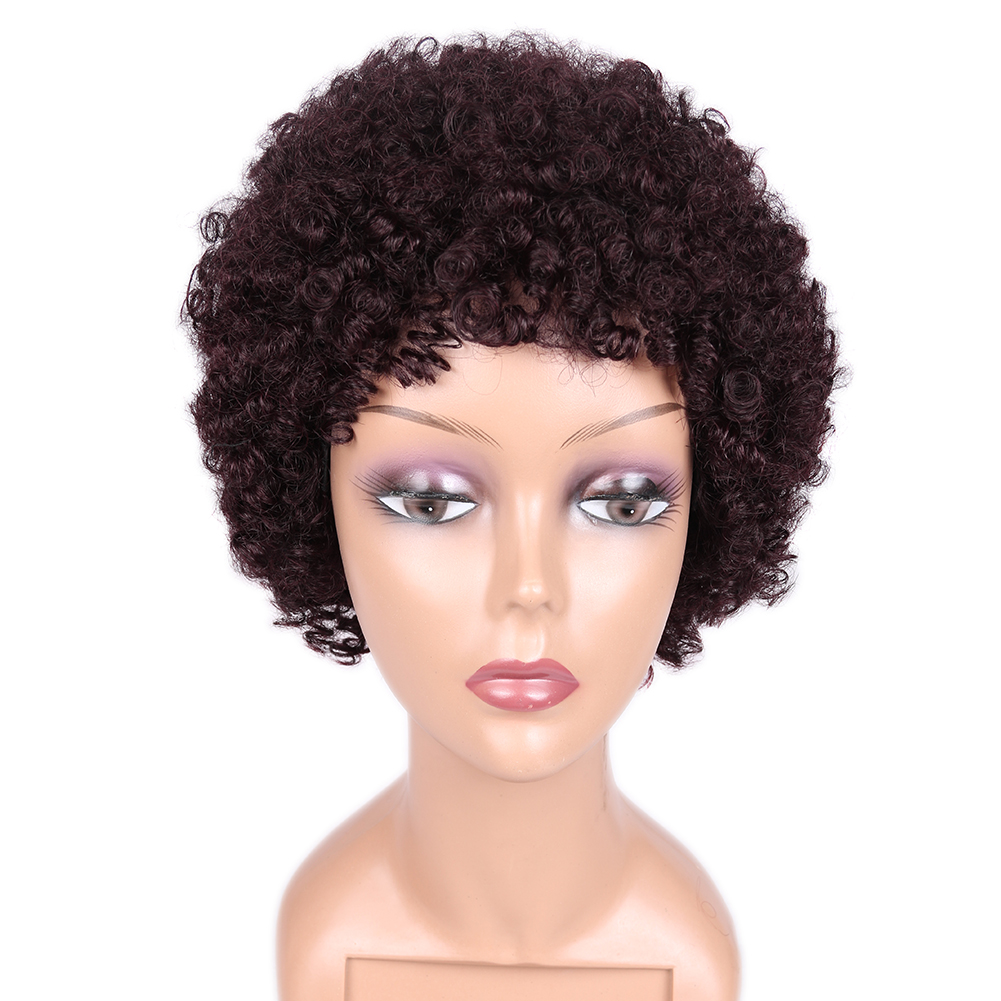 Alibaba.com / New fashion natural color short curly wig human hair for black women human hair afro wig