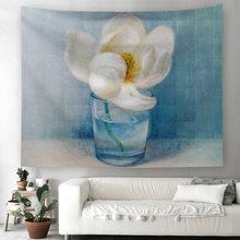 3d Романтическая Роза цветная занавеска цветы художественный ковер настенный гобелен матрас богемный большой солнцезащитный квадратный пл...(Китай)