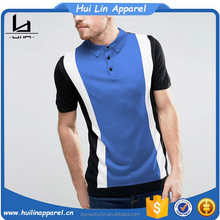 top selling sport man clothes short sleeve contrast color block design your own printing polo t-shirt