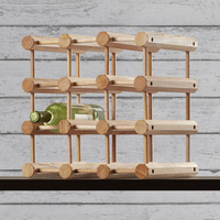 modern simple design ash or pine wood stackable wine rack solid timber material for UK or Australia
