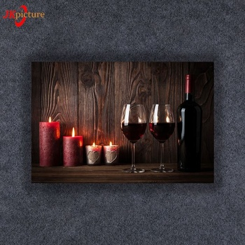 Light up wall art led canvas with candlelight frameless canvas prints