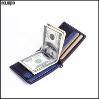 New designer money clip men genuine cow holder wallet / credit card holder / card holder wallet