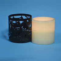 Customed Luxury Brand battery operated melted edge candles