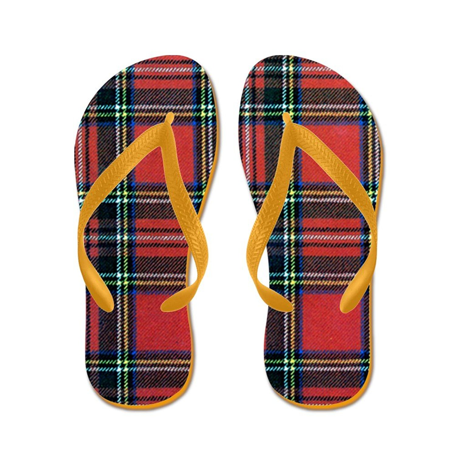 689a1ef44 Get Quotations · CafePress Royal Stewart Tartan - Flip Flops
