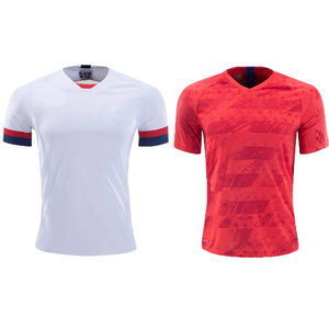 wholesale thai quality custom soccer jersey provide design football uniform customize diy red / white usa  man adult shirt