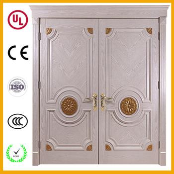 Decorative expensive front double leaf flush wooden door double entry wood doors  sc 1 st  Alibaba & Decorative Expensive Front Double Leaf Flush Wooden Door Double ...