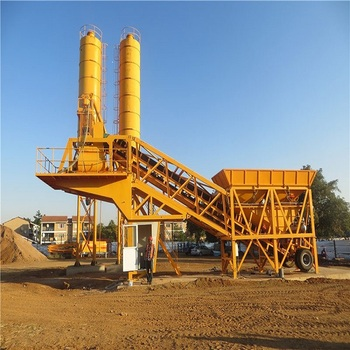 Small wet 50m3/h ready-mixed concrete mixing plant on sale
