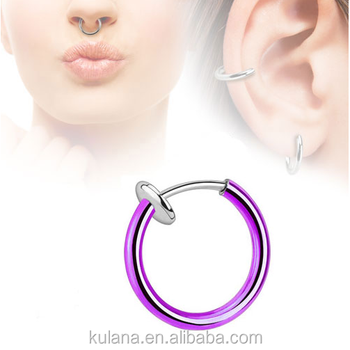 15 Mm Wide Spring Nose Piercing Fake Septum Nose Hook Rings Buy Nose Hook Rings Skin Colored Nose Rings Fake Blue Sapphire Rings Product On
