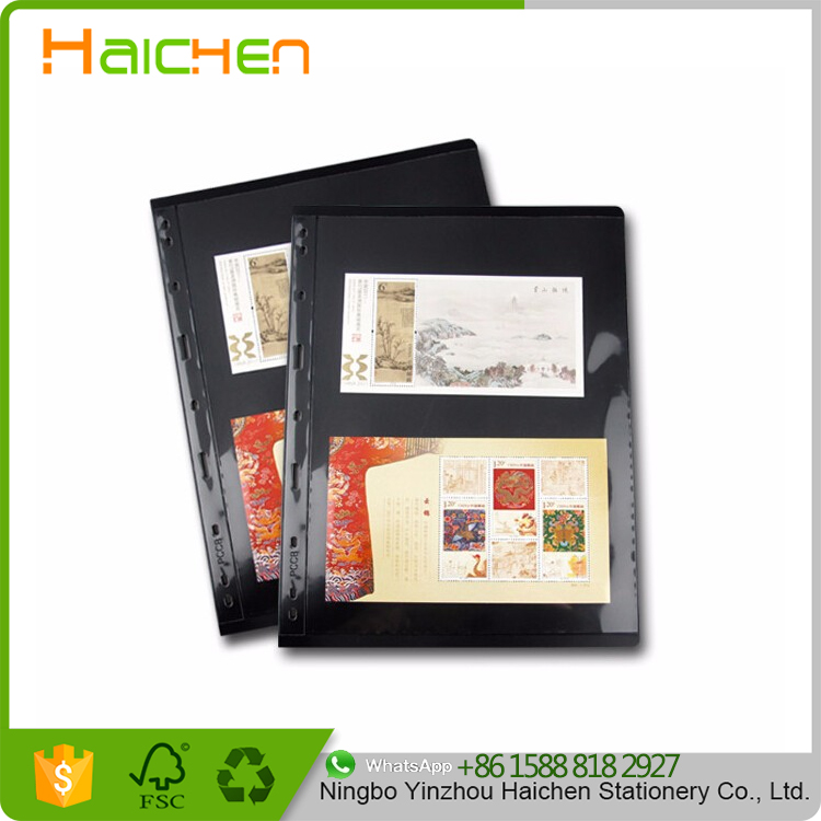 Loose Leaf Postage Stamp Album Sheets Double-sided Standard 9 holes