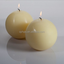 White Paraffin Wax Ball Shape Candle For Wholesale