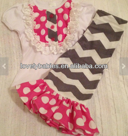 Birthday Outfit Chevron Ruffle Pants Toddler Party Chevron Damask Pink Turquoise Bib Tee Special Event Gorgeous