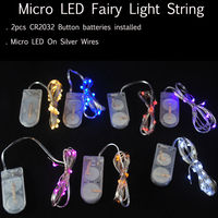CR2032 Cell Button Battery Operated Mini Micro LED String Lights Copper Wire Starry Light