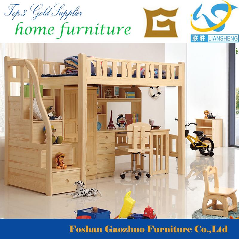 Hot Style Design Moderne Chambre Meubles Bois En Pin Massif Importés  Enfants Lit Superposé
