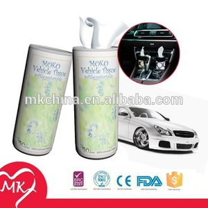 100 super soft virgin tissue round car use paper container for tissue