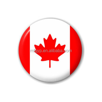 National Flag Canada Flag Tinplate Button Badge In Round Shape
