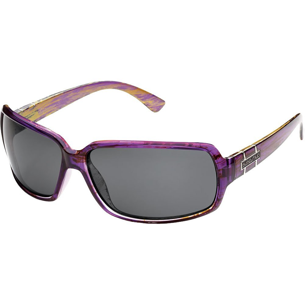 01eab3e197c Get Quotations · Suncloud Optics Poptown Injected Frames Polarized  Lifestyle Sunglasses Eyewear - Purple Backpaint Gray