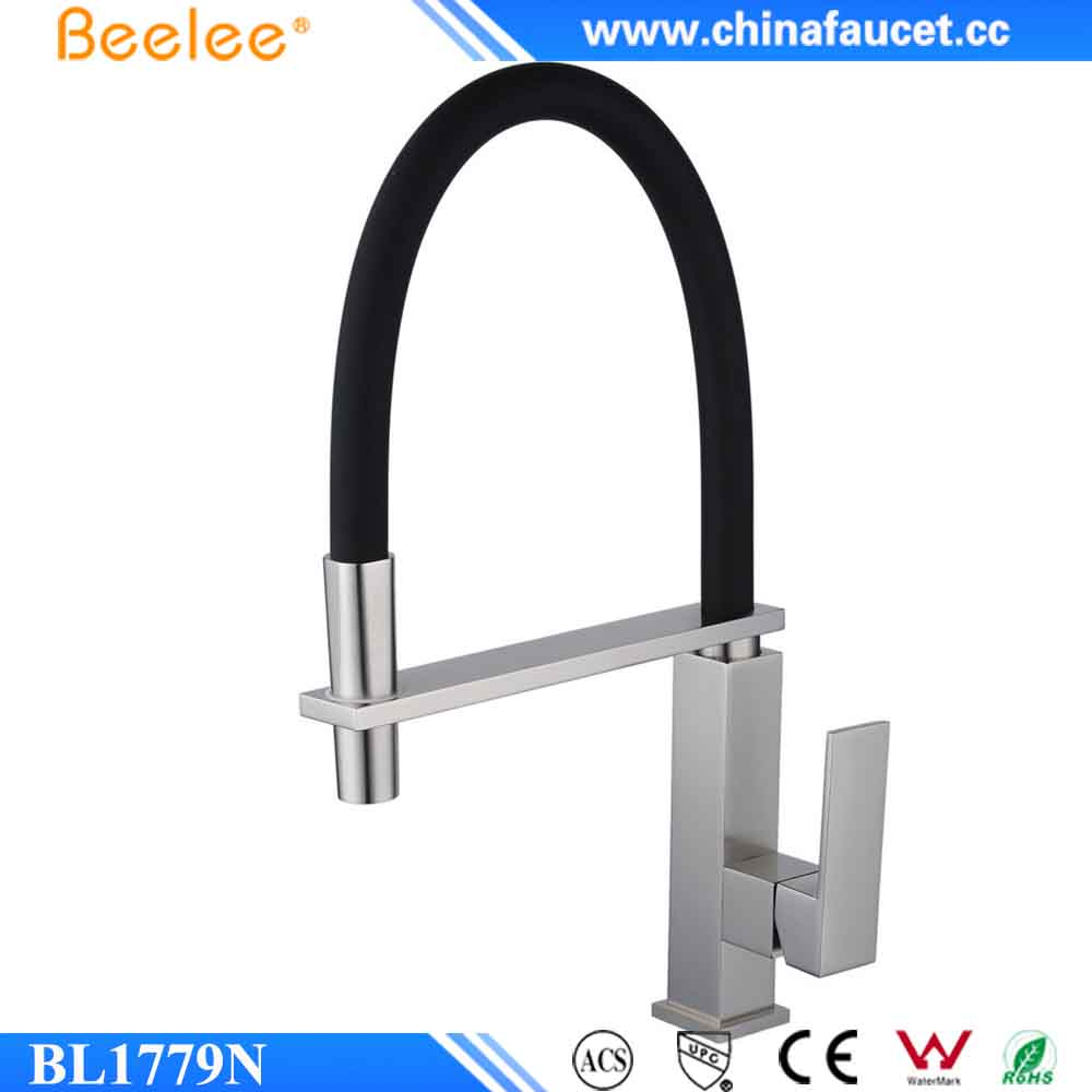 Beelee BL1779N Brushed Nickel Copper Silicon Pull Down Kitchen Tap