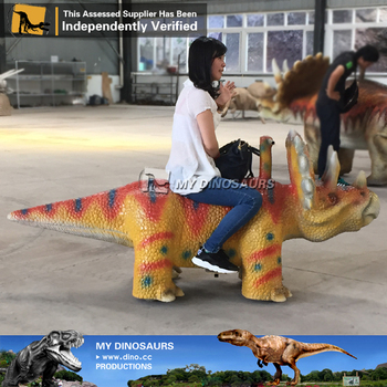 MY Dino-A12 Jurassic Theme Park life size animatronic dinosaur rides for kids