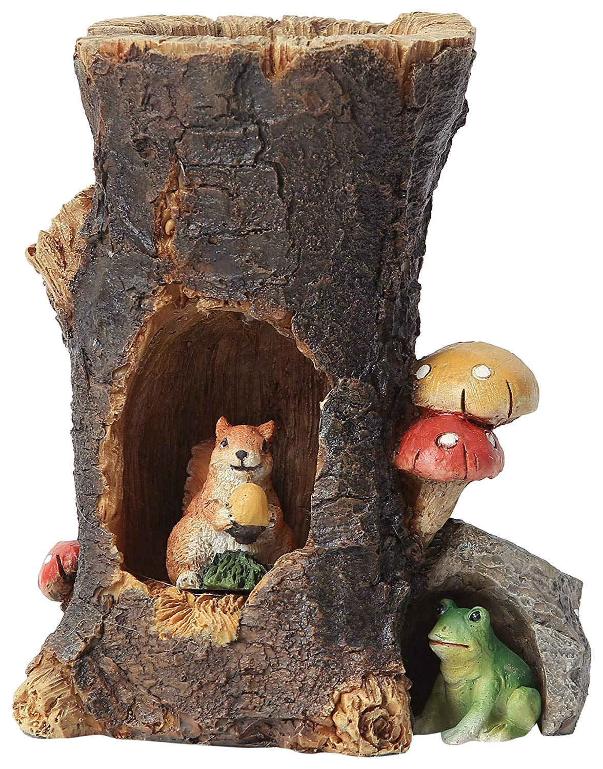 Winsome House Solar Woodland Animals Miniature Fairy Garden Set