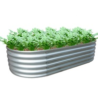 Factory metal durable oval planter raised bed vegetable garden box with good quality