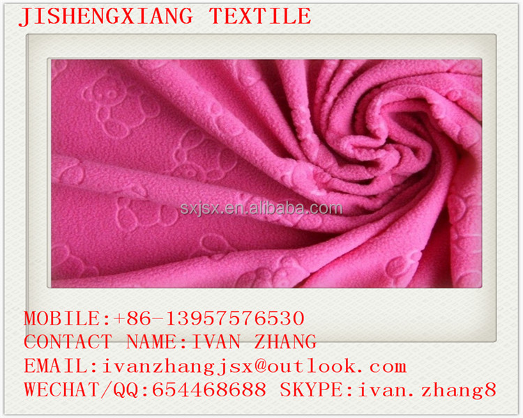 Jishengxiang Textile High Quality 75D/144F 100% Polyester Weft Knitted Micro Polar Fleece Fabric for Garments, B