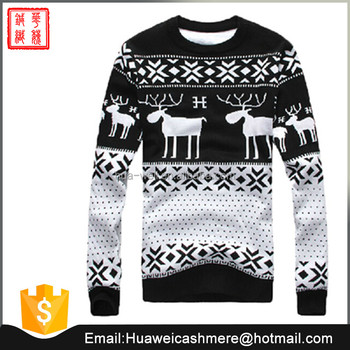 Mens Knitted Wool Cashmere Pullover Sweater Christmas Jumper Buy
