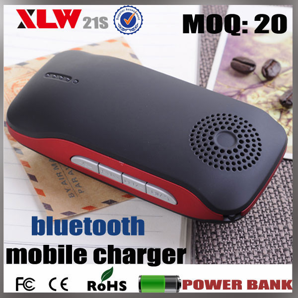 wireless hands free function MP3 mini speaker super fast portable bluetooth mobile charger