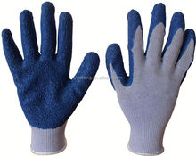 latex coated cotton glove/latex glove malaysia top gloves