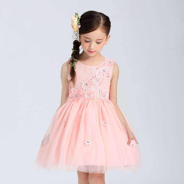 Partido de los niños vestido princesa traje Flor del cordón del ...