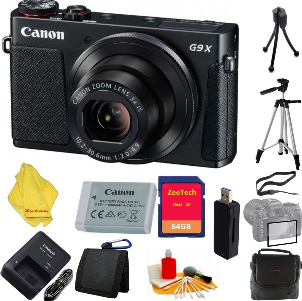 Buy Canon Powershot G9 X Digital Camera Black Sandisk 16gb G3 Wi Fi And Nfc With 3x Optical Zoom Built In